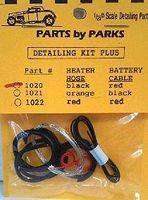 Parts-By-Parks Radiator Hose, Black Heater Hose, Red Battery Cable w/ Tinned Copper Wire Engine Detail #1020