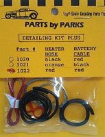 Parts-By-Parks Radiator Hose, Red Heater Hose, Red Battery Cable w/Tinned Copper Wire Engine Detail #1022