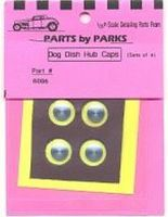 Parts-By-Parks Dog Dish Hub Caps 3/8 (Solid Aluminum)(4) Plastic Model Vehicle Accessory 1/25 #6006