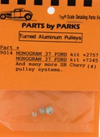 Parts-By-Parks 1/25 Pulley Set 1937 Ford & SB Chevy (Spun Aluminum) (4)
