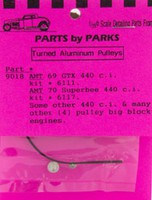 Parts-By-Parks 1/25 Pulley Set Chrysler & Ford Big Block (Spun Aluminum) (4)