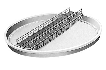 Peco Well Type Turntable Kit Bridge 5 15/16'' 151mm Long -- Model Train Track -- N Scale -- #1755