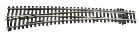 Peco Code 100 Curved Double Radius Turnout Left Hand Model Train Track HO Scale #1911
