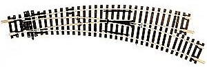 Peco Code 100 Curved Double Radius Turnout Right Hand Insulfrog -- Model Train Track -- HO Scale -- #244