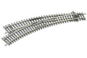 Peco Code 100 Curved Double Radius Turnout Left Hand Insulfrog Model Train Track HO Scale #245