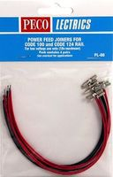 Peco O/HO Code 100 & Code 124 Power Feed Rail Joiners (4prs) Model Train Accessory #pl80