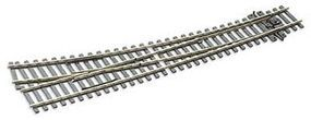 Peco Code 75 Curved Right Hand Turnout w/Electrified Frog Model Train Track HO Scale #sle186