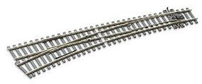Peco Code 75 Curved Left Hand Turnout w/Electrified Frog Model Train Track HO Scale #sle187