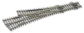 Peco Code 75 Medium 3-Way Turnout w/Electrified Frog Model Train Track HO Scale #sle199