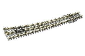 Peco Code 80 Curved Right Hand Turnout w/Electrified Frog Model Train Track N Scale #sle386