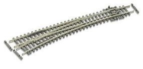 Peco Code 55 Curved Left Hand Turnout w/Electified Frog Model Train Track N Scale #sle387f