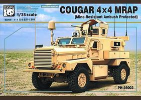 Panda Cougar 4x4 MRAP Military Truck (MRAP) Plastic Model Military Vehicle Kit 1/35 Scale #35003