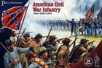Perry Miniatures American Civil War Infantry (36) -- Plastic Model Military Figure -- 28mm -- #101