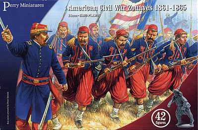 Perry Miniatures American Civil War Zouaves 1861-65 (42) -- Plastic Model Military Figure -- 28mm -- #103