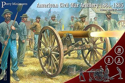 Perry Miniatures American Civil War Artillery 1861-65 -- Plastic Model Military Figure -- 28mm -- #105