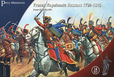 Perry Miniatures French Napoleonic Hussars 1792-15 (14 Mtd) -- Plastic Model Military Figure -- 28mm -- #204