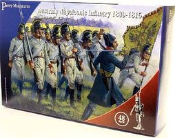 Perry Austrian Napoleonic Infantry 1809-15 (48) Plastic Model Military Figure 28mm #207