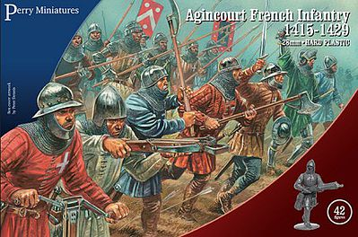 Perry Miniatures Agincourt French Infantry 1415-1429 (42) -- Plastic Model Military Figure -- 28mm -- #802
