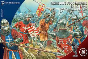 Perry Agincourt Foot Knights 1415-1429 (36) Plastic Model Military Figure 28mm #803