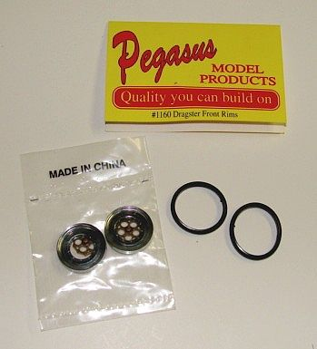 Dragster Front Rims W Tires 2 Plastic Model Vehicle Accessory 1