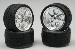 Pegasus Daggars Chrome Rim/Tires (4) Plastic Model Tire Wheel 1/24 Scale #1226