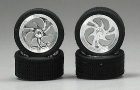 Pegasus Diablos Chrome Rims w/Tires (4) Plastic Model Tire Wheel 1/24 Scale #1246