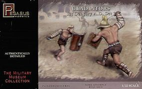 Pegasus Gladiators 1st Century AD Set #1 (8) Plastic Model Military Diorama Kit 1/32 Scale #3201