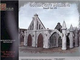 Pegasus Gothic City Building Small Set #1 Plastic Model Building Kit 28mm Scale #4924