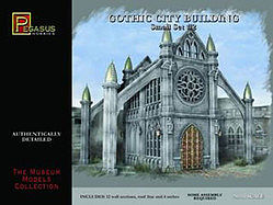 Pegasus Hobbies 28mm Gothic City Building Small Set #2 -- Plastic Model Building Kit -- 28mm Scale -- #4925
