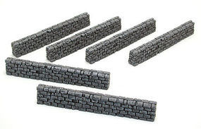 Pegasus Block Type Stone Wall (6) (Painted) Plastic Model Military Diorama 1/32 or 1/72 Scale #5203
