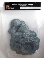 Pegasus Crater Set (5pc) (Vacuum-Formed) Plastic Model Diorama 1/32 or 1/72 Scale #5214