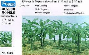 Pegasus Banana Trees 1-1/2-2-1/2 (15) Plastic Model Diorama #6509