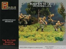 Pegasus German Waffen SS Set 2 (43) Plastic Model Military Figure 1/72 Scale #7202