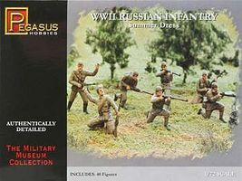 Pegasus WWII Russian Infantry Summer Dress (40) Plastic Model Military Figure 1/72 Scale #7268