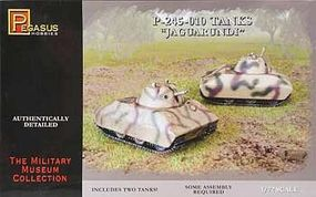 Pegasus P-245-010 German Jaguarundi Tanks (2) Plastic Model Military Vehicle Kit 1/72 Scale #7606