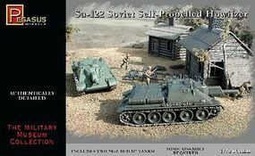 Pegasus Soviet Su122 Self-Propelled Howitzer (2) (Snap) Plastic Model Military Kit 1/72 Scale #7664