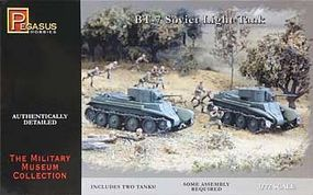 Pegasus BT-7 Light Tanks (2) Plastic Model Military Vehicle Kit 1/72 Scale #7673