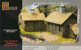 Pegasus Russian Farm Houses (2) Plastic Model Military Diorama Kit 1/72 Scale #7702