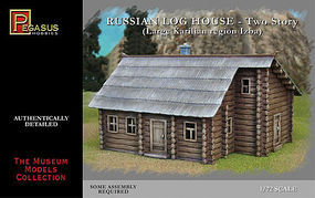 Pegasus Russian 2-Story Log House (Snap) Plastic Model Military Diorama Kit 1/72 Scale #7704