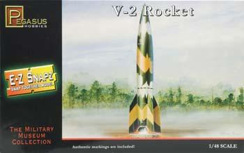 Pegasus Hobbies E-Z Snapz V-2 Rocket -- Snap Tite Plastic Model Spacecraft Kit -- 1/48 Scale -- #8416