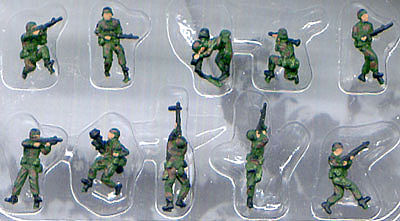 Pegasus Hobbies Modern American Infantry NATO (10) Painted -- Plastic Model Military Figure -- 1/144 Scale -- #854