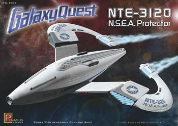 Pegasus Hobbies Galaxy Quest NSEA Protector Kit -- Science Fiction Plastic Model Kit -- 1/400 Scale -- #9004