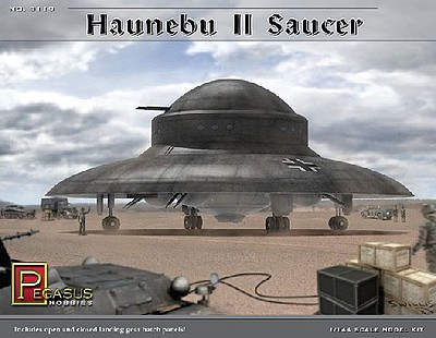 Pegasus Hobbies Haunebu II German WWII UFO Saucer Kit -- Science Fiction Plastic Model -- 1/144 Scale -- #9119