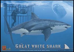 Pegasus The Great White Shark Plastic Model Animal Figure Kit 1/18 Scale #9501