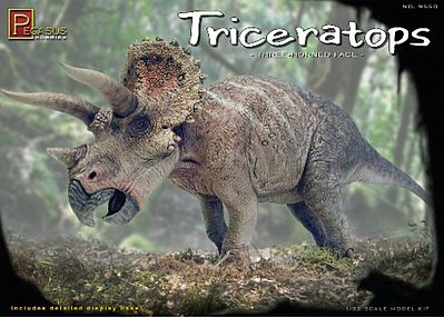 Pegasus Hobbies Triceratops -- Plastic Model Dinosaur Kit -- 1/32 Scale -- #9550