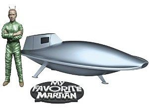 Pegasus Hobbies Uncle Martin and Spaceship B/U -- Science Fiction Plastic Model -- 1/18 Scale -- #9912