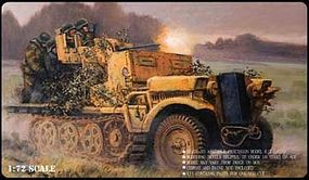Pegasus WWII German Sd.Kfz. 10/4 with 20mm Flak 30 Plastic Model Military Kit 1/72 Scale #c7208