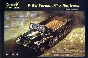 Pegasus WWII German SWS Halftrack w/ 1 Figure Plastic Model Military Vehicle Kit 1/72 Scale #c7210