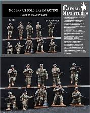 Pegasus Hobbies Modern US Soldiers in Action -- 1/72 Scale Plastic Model Military Figure -- #hb11