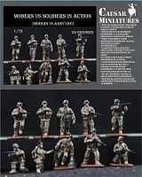 Pegasus Modern US Soldiers in Action 1/72 Scale Plastic Model Military Figure #hb11
